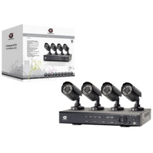 Kit de Videovigilancia CCTV con 4 Cámaras + 1 Grabador.